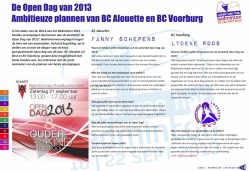 Open Dag BC Alouette vermeld in Clear